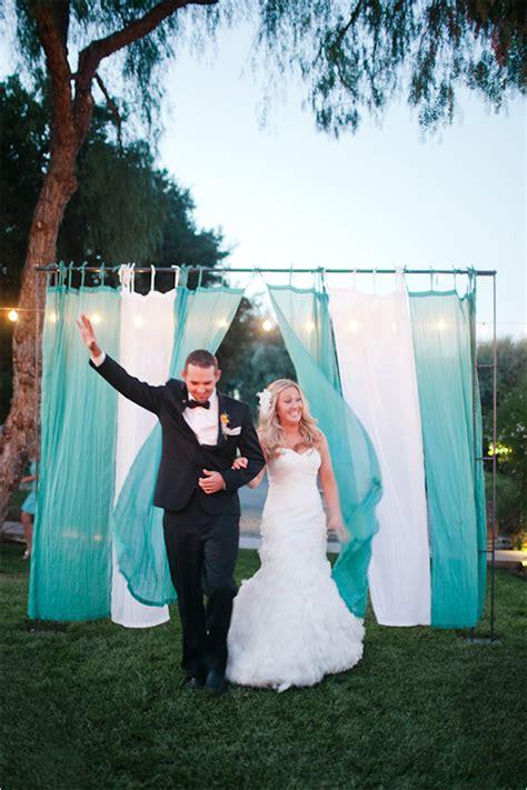 Wedding Talk Draped Outdoor Reception Entrance