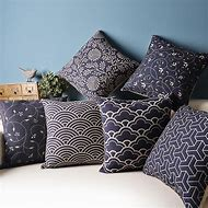 White and Blue Decorative Pillows