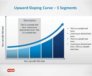 upward sloping curve template  powerpoint