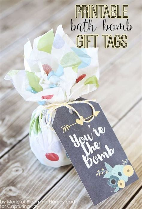 printable bath bomb gift tags mothers gifts  birthdays