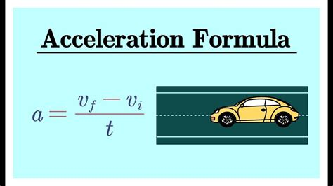 Acceleration Formula with Velocity and Time - YouTube