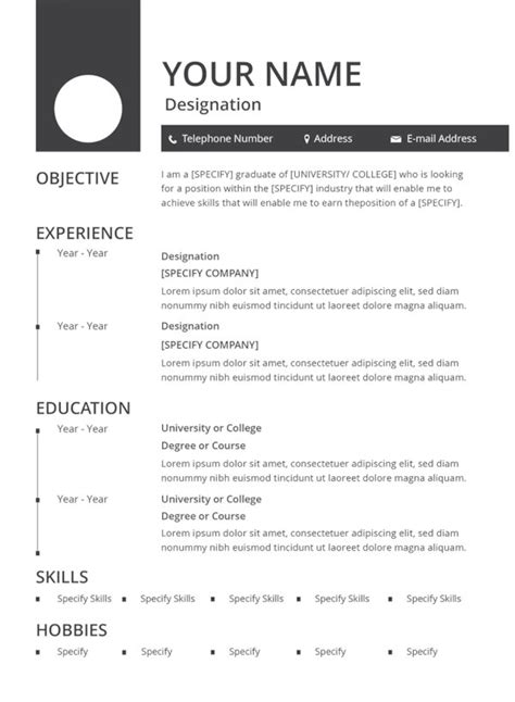 Resume Simple by 30 Best Resume Formats Doc Pdf Psd Free Premium