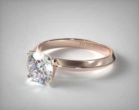 mm knife edge solitaire engagement ring  rose gold