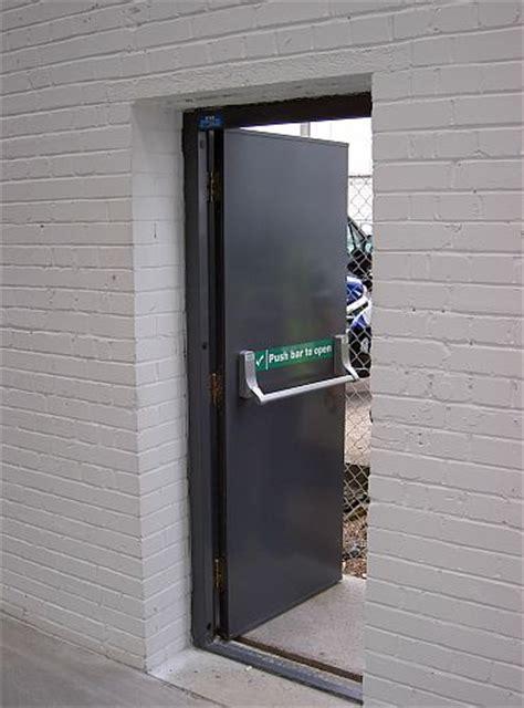 steel doors hinged security  fire doors