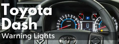 toyota dashboard lights  symbols