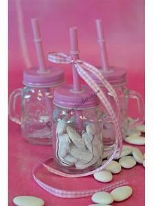 Mason Jar Paille : 1 mini mason jar paille rose ~ Teatrodelosmanantiales.com Idées de Décoration