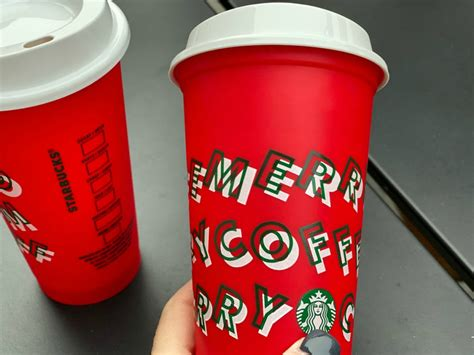 starbucks reusable cup  holiday drink purchase