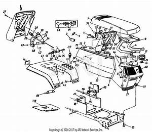 Mtd 14ay844p401  1997  Parts Diagram For Hood And Throttle