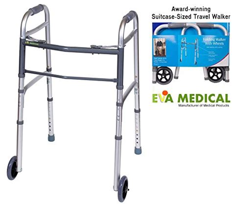 lightweight walker walkers seniors elderly travel eva folding compact wheels medical ultra folds suitcase senior medium amazon without
