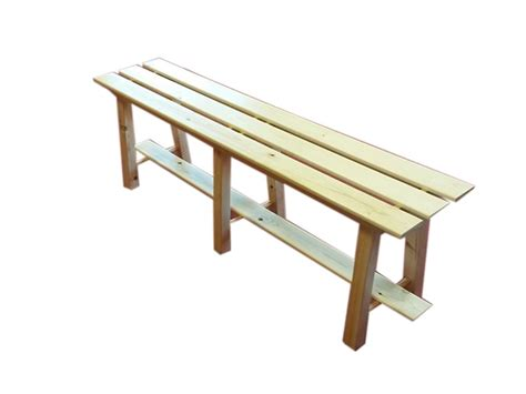 Wooden Bench Without Back Quadralp