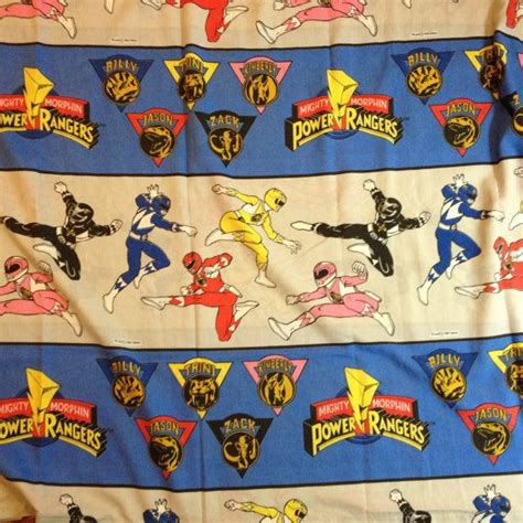 power rangers bed sheet flat mighty morphin by