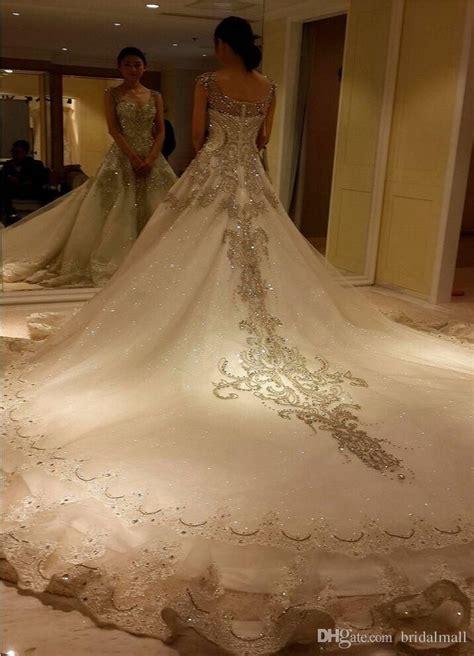 bling bling shiny rhinestone luxury wedding dresses beaded