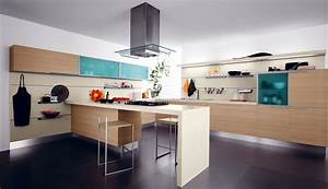 Modern colorful kitchen decor stylehomesnet for Kitchen colors with white cabinets with contemporary art wall decor