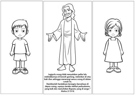 contoh gambar gambar untuk mewarnai anak sd tema diri