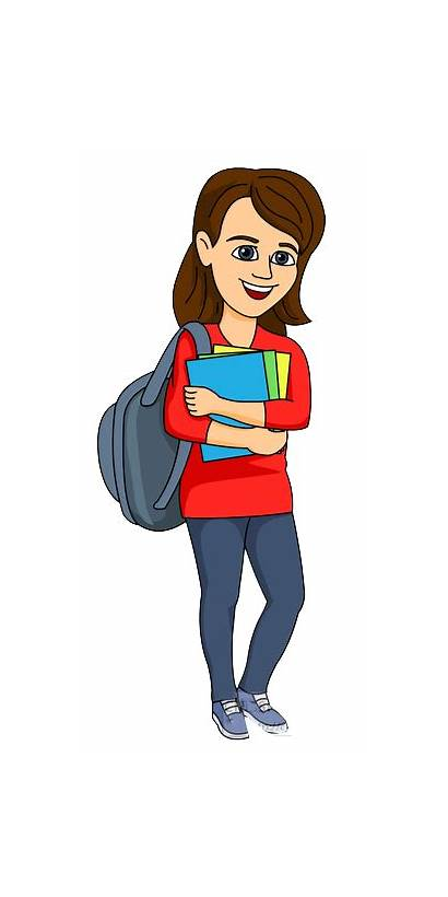 Student Clipart College Female Studying Take Step