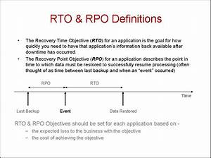 defining rpo and rto wikibon With recovery point objective template