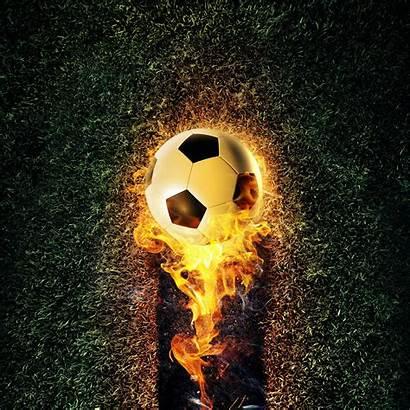 Soccer Football Wallpapers Ball Fire Sports Flames