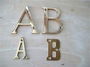 3 or 2 solid brass polished brass house door alphabet letters With 2 brass letters