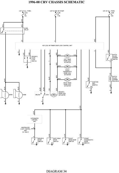 Electrical Wiring Diagram 1996 Honda Cr V by Repair Guides