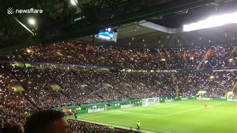 Liveleakcom  Fans Light Up Celtic Park In Tribute To