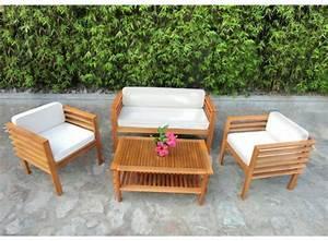 Spa En Bois Pas Cher : salon de jardin bois pas cher ~ Premium-room.com Idées de Décoration