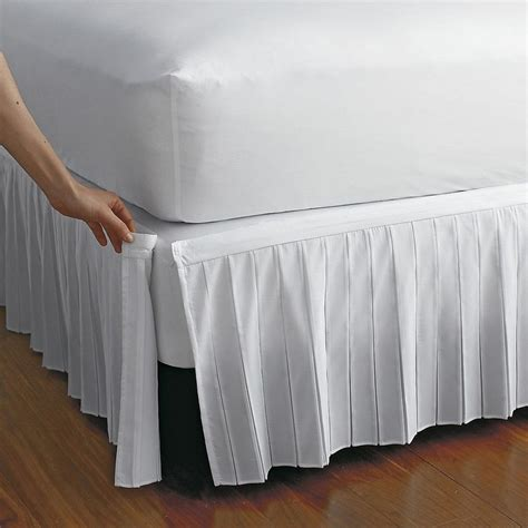 Bedskirt For Adjustable Bed by Detachable Wrinkle Free Bedskirt The Company Store