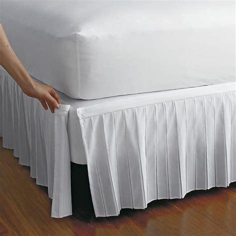 bedskirt for adjustable bed detachable wrinkle free bedskirt the company store