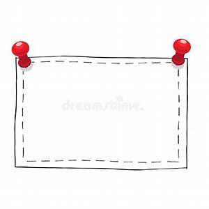 Simple Square Frame With Pushpins Illustration Stock ...