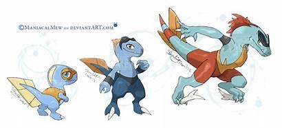 Pokemon Water Deviantart Starters Mega Evolution Emboar