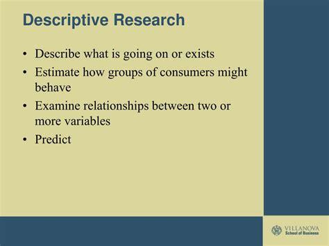 descriptive research powerpoint    id