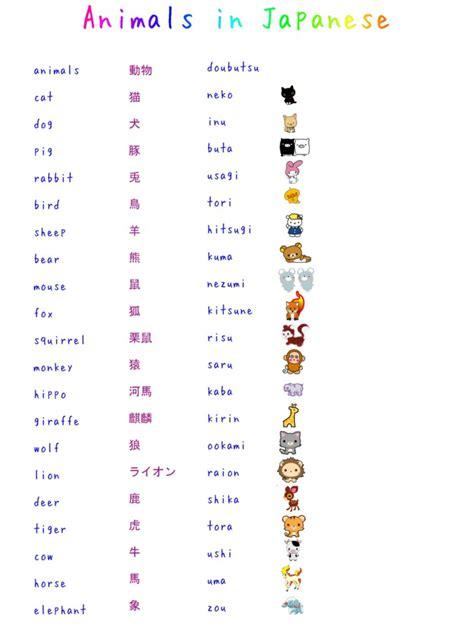 learn japanese animals  misshoneyvanity  deviantart