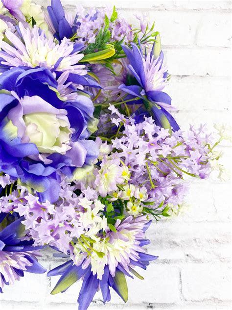 Levander Peony Fuji Mum Lila Delphinium & Hydrangea Mixed ...