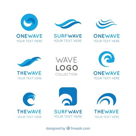 Boat Show Logo by Flat Pack Of Wave Logos With Abstract Designs Vector