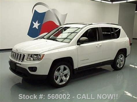 jeep compass sunroof sell used 2012 jeep compass ltd heated leather sunroof nav