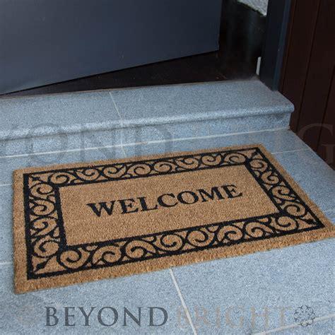 Outdoor Welcome Door Mats by Doormat 45x75cm Welcome Coir Door Mat Outdoor Rugs