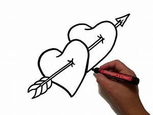 Como Dibujar Corazones Flecha San Valentin / How to draw ...