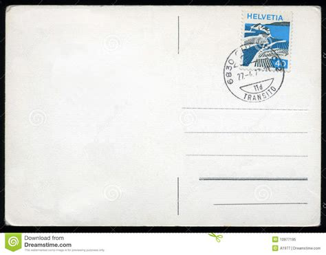 blank postcard blank postcard with st stock image image of mail 10977195
