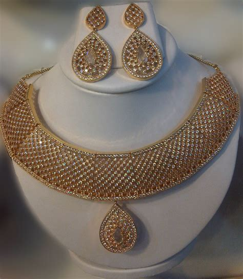 bridal wear american diamonds necklace artificial jewellery online shopping