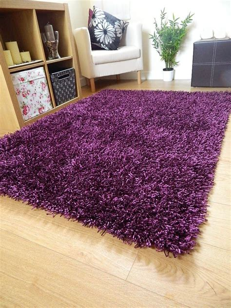 small large silky dark purple rugs shaggy
