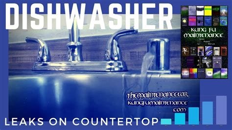 kitchen sink air gap keeps overflowing how to stop dishwasher leaking water from sink counter top