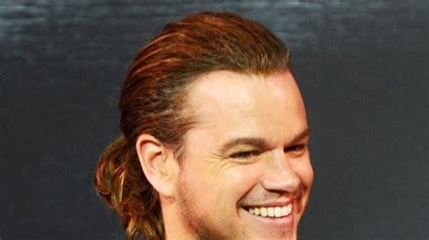 See Matt Damon's New Ponytail Indian Bride Hairstyle Pictures Natural Hair Protective Styles 2016 Front Braid Tutorial Dailymotion Pretty Highlights For Black Cute Quick Updos Naturally Curly Pics Of Hairstyles Oval Faces How To Make Workout Mens Short Back And Sides Long Fringe