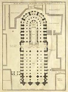 Plan Of Notre Dame Cathedral  Paris Archi  Maps   Photo In