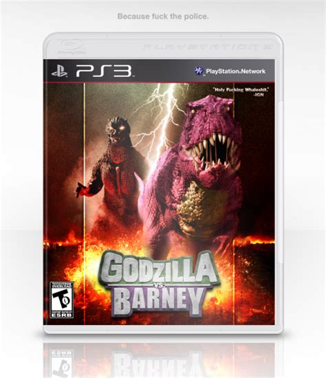 godzilla  barney playstation  box art cover  eggboy
