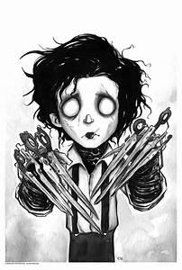 tim burton horror cartoon edward scissorhands ldarknessl •