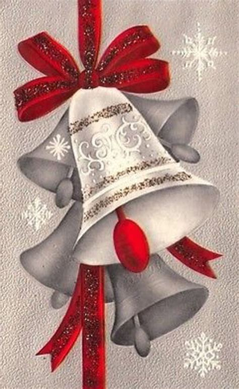 vintage christmas bells card front 3773 best vintage christmas cards images on pinterest cards fabric painting and good ideas