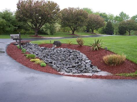 driveway swale drainage pipe under driveway landscaping rip rap swale gardening pinterest drainage