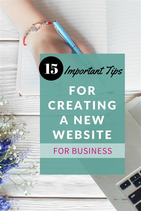 15 Important Tips When Creating A New Website For Business