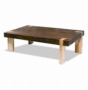 ibiza solid wood chunky rustic contemporary rectangle With solid wood rectangle coffee table