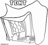 Tent Coloring Pages Printables Template Drawing Coloringway Printable Getdrawings Collections Circus Getcolorings sketch template