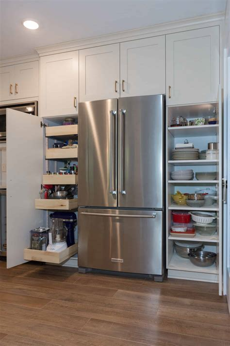 add pantry storage   kitchen  tall cabinets